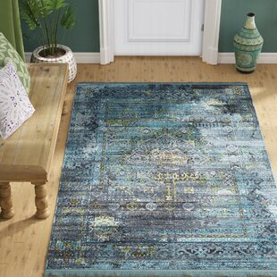 Lonerock Gray/Teal Area Rug by Bungalow Rose