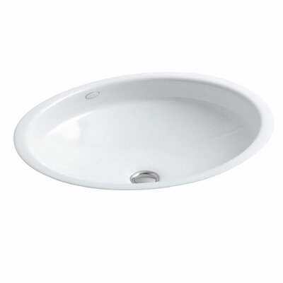 Undermount Bathroom Sink kohler canvas oval undermount bathroom sink & reviews | wayfair