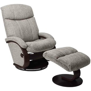 Mukul Manual Swivel Recliner with Ottoman