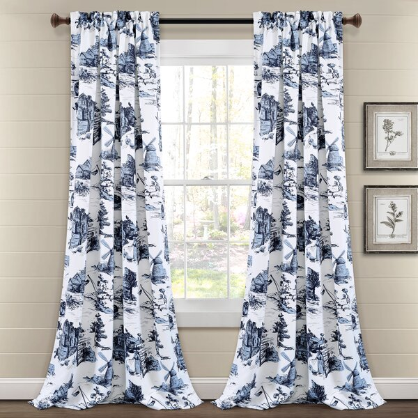Blue French Country Curtains Wayfair