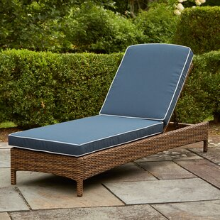 Beachcrest Home Dardel Reclining Chaise Lounge with Cushion