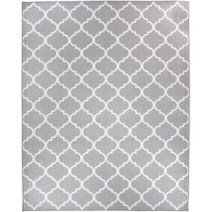 Moroccan Light Gray Indoor/Outdoor Area Rug