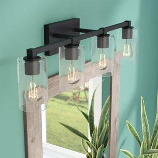 Online Reviews Mcdowell 4-Light Vanity Light ByUnion Rustic