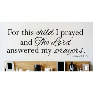 Bible Verse Wall Decal  sc 1 st  Wayfair & Bible Verse Wall Decals | Wayfair