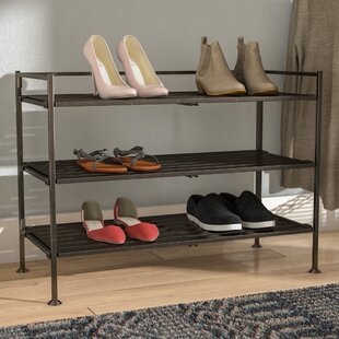 Utility 3 Tier 9 Pair Stackable Shoe Rack