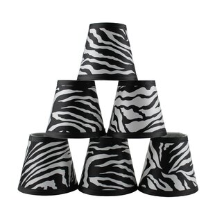 5 Zebra Empire Lamp Shade with Clip-on (Set of 6)