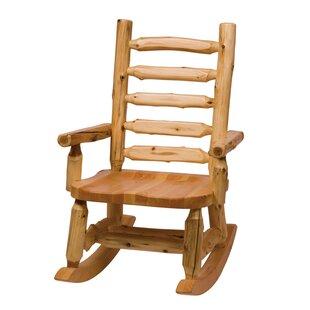 Fireside Lodge Traditional Cedar Log Rocking Chair