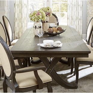 Baltimore Extendable Solid Wood Dining Table by Canora Grey