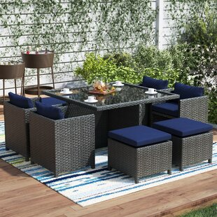 Tripp 9 Piece Dining Set with Cushion