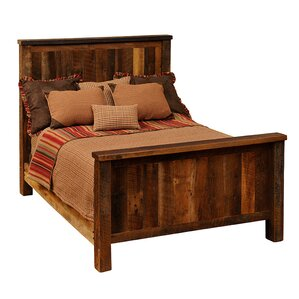 Reclaimed Barnwood Platform Bed by Fireside Lodge