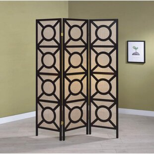 Perine 3 Panel Room Divider by Wrought Studio