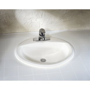 American Standard Aqualyn Ceramic Oval Drop-In Bathroom Sink with Overflow