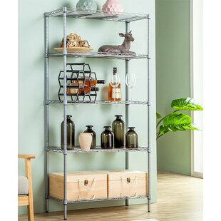 Elyse 5-Tier Wire Shelved Heavy Duty Steel Baker's Rack by Rebrilliant