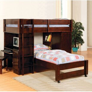Aldana Twin over Twin L-Shaped Bunk Bed