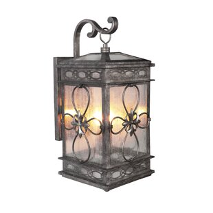 Best Caddy Traditional 2-Light Outdoor Wall Lantern By August Grove