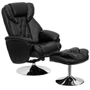 Krystin Leather Manual Swivel Recliner With Ottoman by Latitude Run Today Sale Only