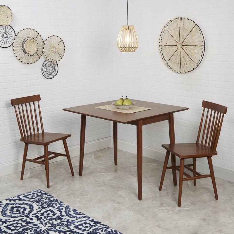 4965095cada7 Ebern Designs Alidade Mid-Century Modern Drop Leaf Dining Table ...
