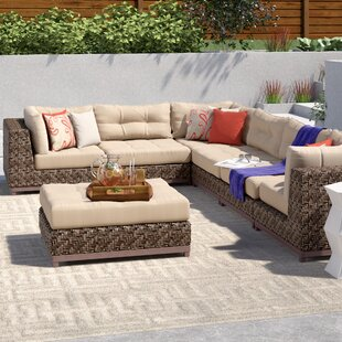 Brayden Studio Larosa 7 Piece Sunbrella Sectional Set with Cushions