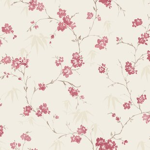 Pink floral wallpaper wayfair save mightylinksfo