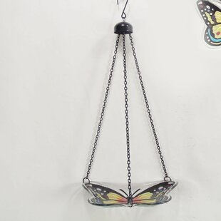 Continental Art Center Butterfly Birdbath