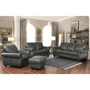 Look for Fairdale 4 Piece Leather Living Room Set by Darby Home Co Reviews (2019) & Buyer's Guide