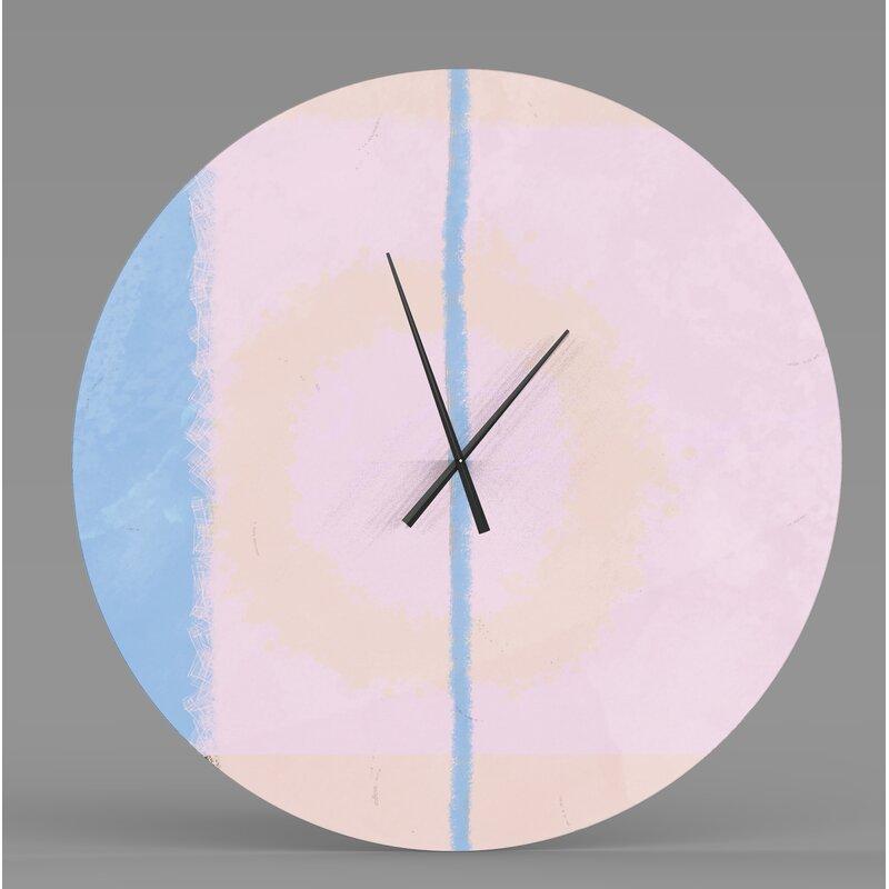 Ebern Designs Marhill Wall Clock Wayfair