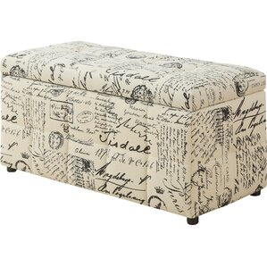 Vintage French Storage Ottoman by Monarch Specialties Inc.