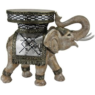 Oriental Furniture Standing Statue End Table
