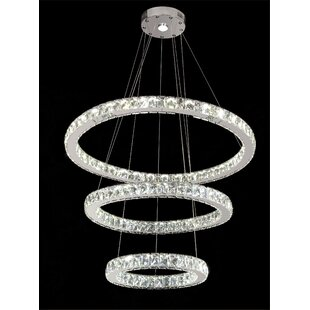 Minster LED Crystal Pendant by Everly Quinn