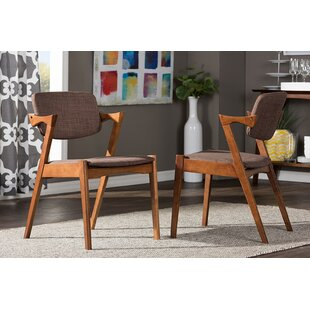 Carrell Scandinavian Upholstered Dining Chair (Set of 2) George Oliver
