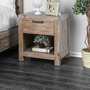 Birmingham Transitional Wood 2 Drawer Nightstand by Loon Peak
