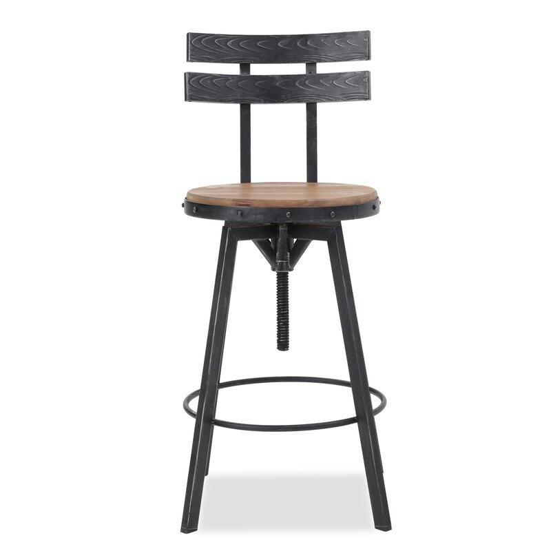 Henley Adjustable Swivel Bar Stool