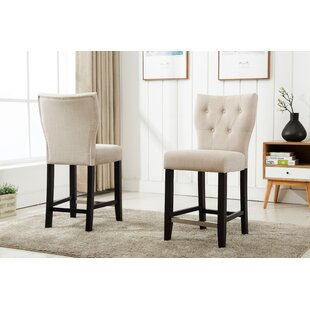 Darby Home Co Fontane Counter Height Upholstered Dining Chair (Set of 2)
