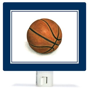 Oopsy Daisy Non-Personalized Sports and Games Basketball Canvas Night Light