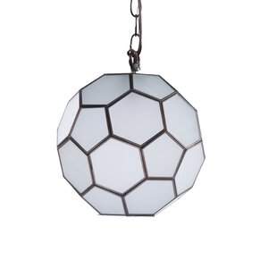 Faceted Ball 1-Light Pendant by Worlds Away