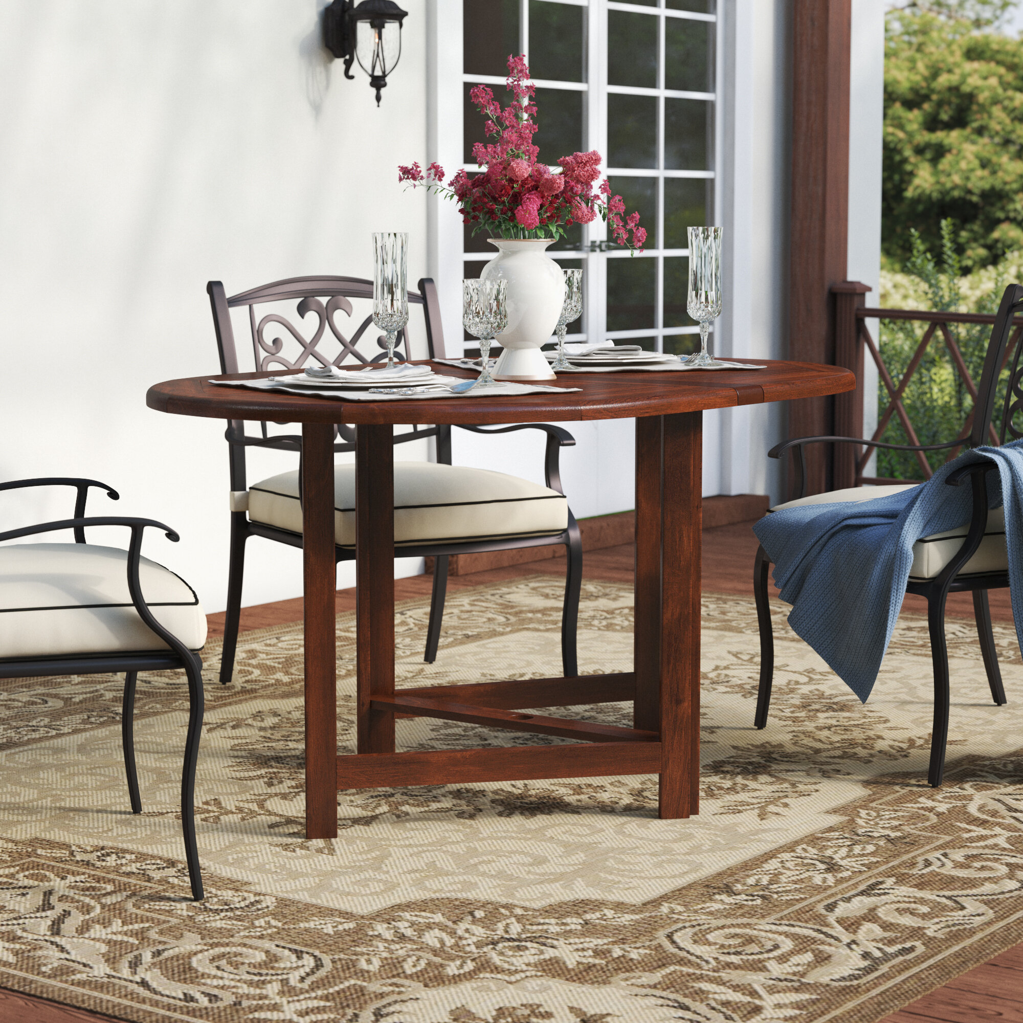 Beachcrest Home Pine Ridge Folding Solid Wood Dining Table Reviews Wayfair