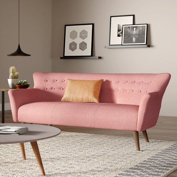 Super Modern Contemporary Dusty Rose Sofa Allmodern Pdpeps Interior Chair Design Pdpepsorg