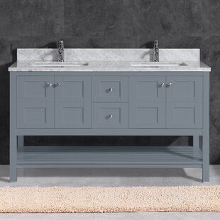 Rebeca 60 Double Bathroom Vanity by Breakwater Bay