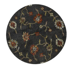 Top Reviews One-of-a-Kind Himalayan Art Handwoven Round 5'10 Black Area Rug By Bokara Rug Co., Inc.
