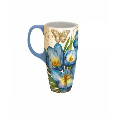 ae2bb124892 Lang 18 oz. Blue Crocus Latte Mug | Wayfair