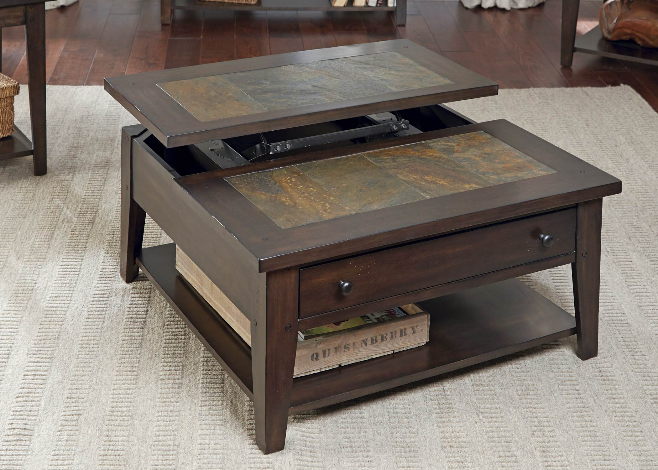 Loon Peak Leadville North Coffee Table with Lift Top & Reviews