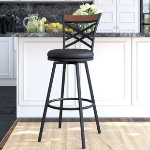 Clintwood Adjustable Height Swivel Bar Stool Set of 3 by Gracie Oaks