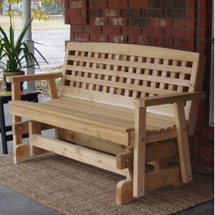 Shannon Cedar Lattice Glider Bench