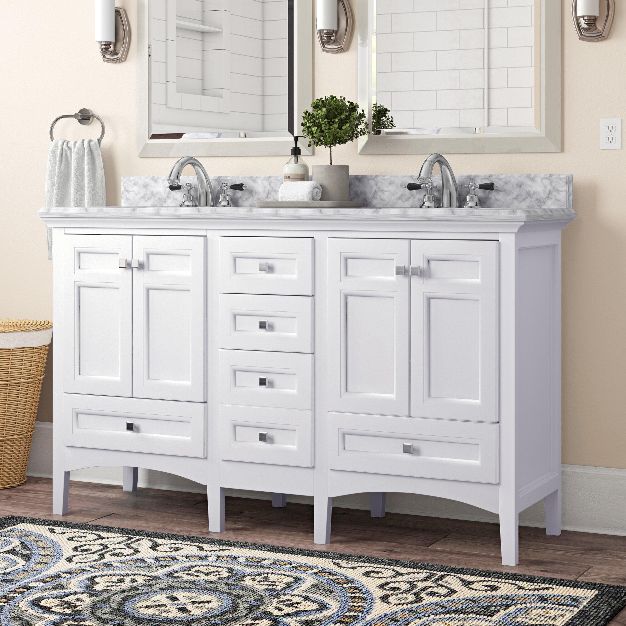 Contemporary Office Interior Design, Birch Lane Luz 60 Double Sink Bathroom Vanity Set Reviews Wayfair Ca