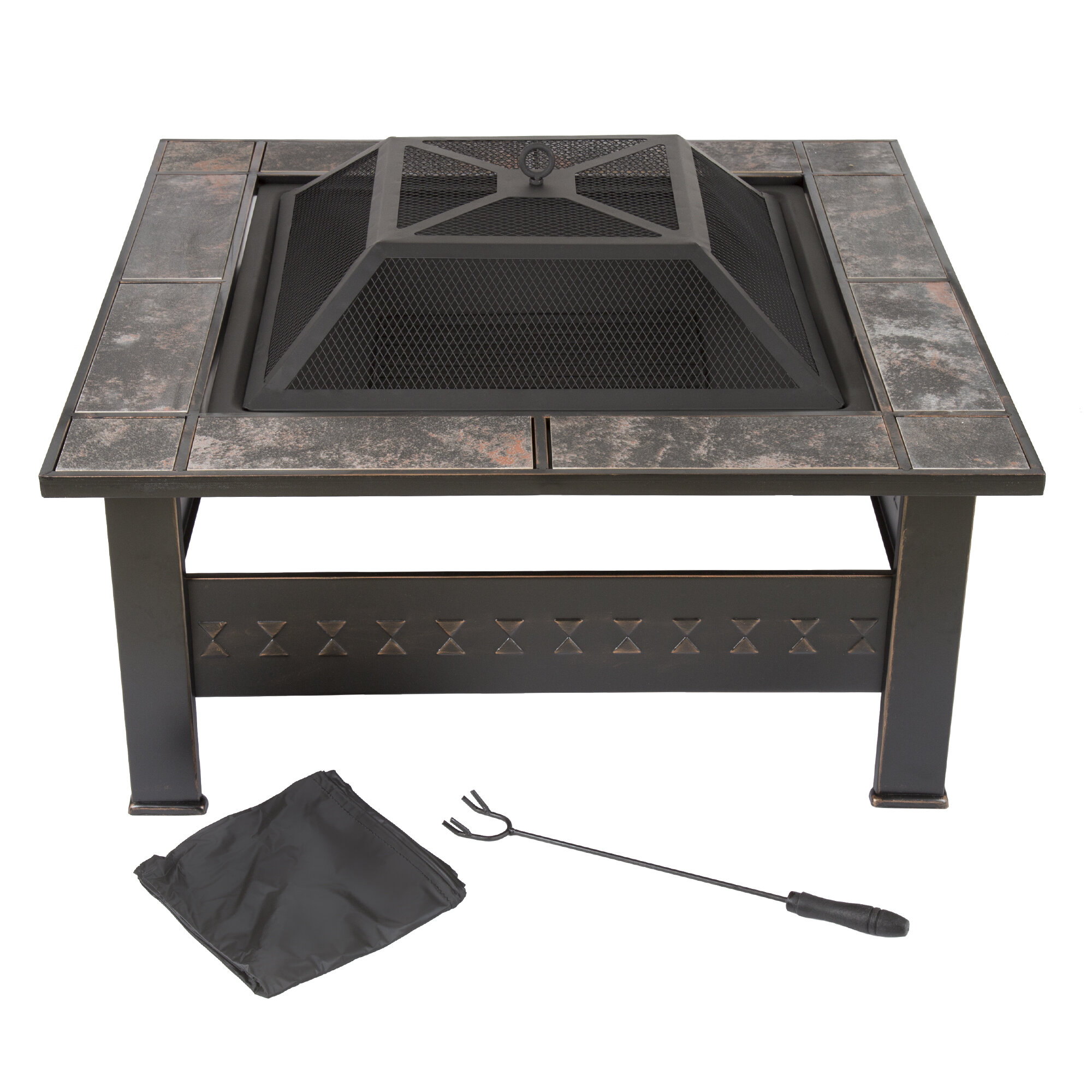 Steel Wood Burning Fire Pit Table Reviews Allmodern