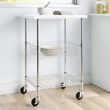 Avery Kitchen Cart with Stainless Steel Top by Dotted Line™