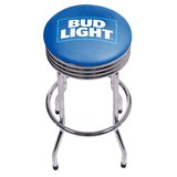 Bud Light Ribbed 28.5 Swivel Bar Stool by Trademark Global