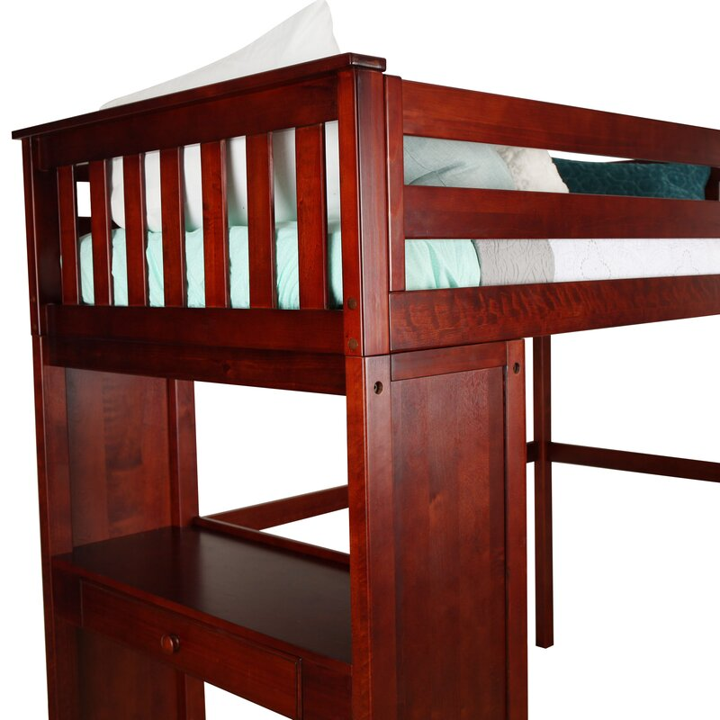Harriet Bee Solari Twin Loft Bed With Desk Wayfair