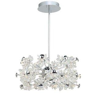 Blossom 19-Light LED Crystal Chandelier b..