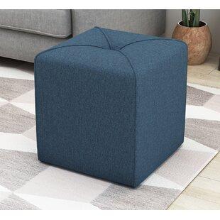 Cassella Cube Ottoman by Ebern Designs